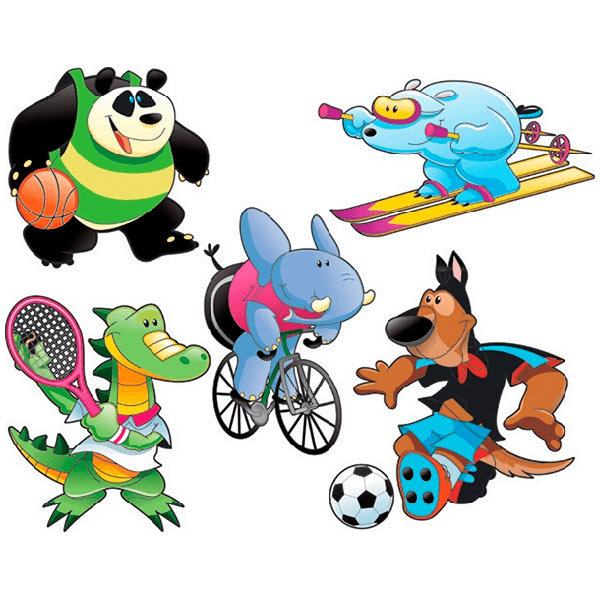 Stickers for Kids: Kit Animals sportsmen