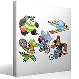 Stickers for Kids: Kit Animals sportsmen 4