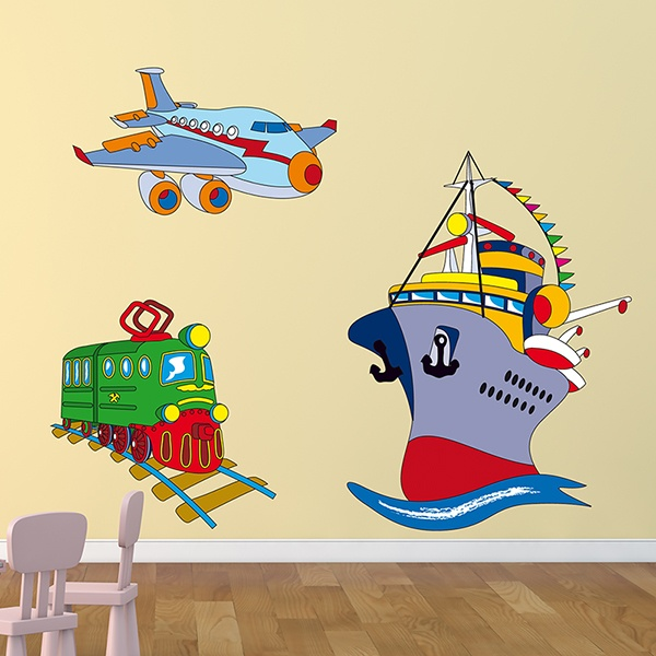 Stickers for Kids: Transport by land, sea and air