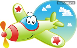Stickers for Kids: The Funny Plane 3