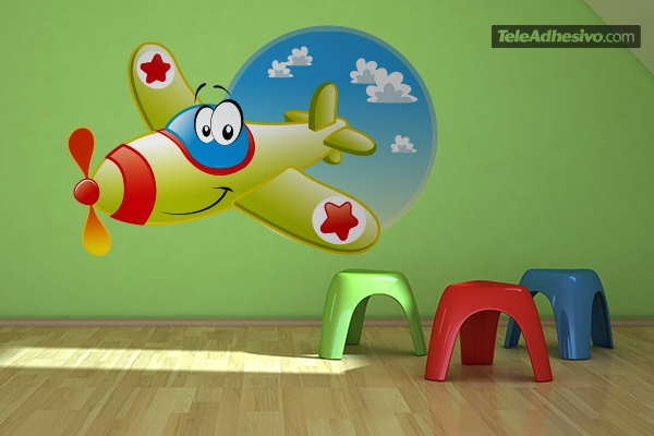 Stickers for Kids: The Funny Plane