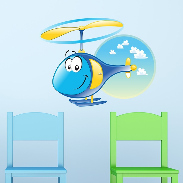 Stickers for Kids: Helicopter