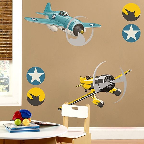Stickers for Kids: Acrobatic aircraft