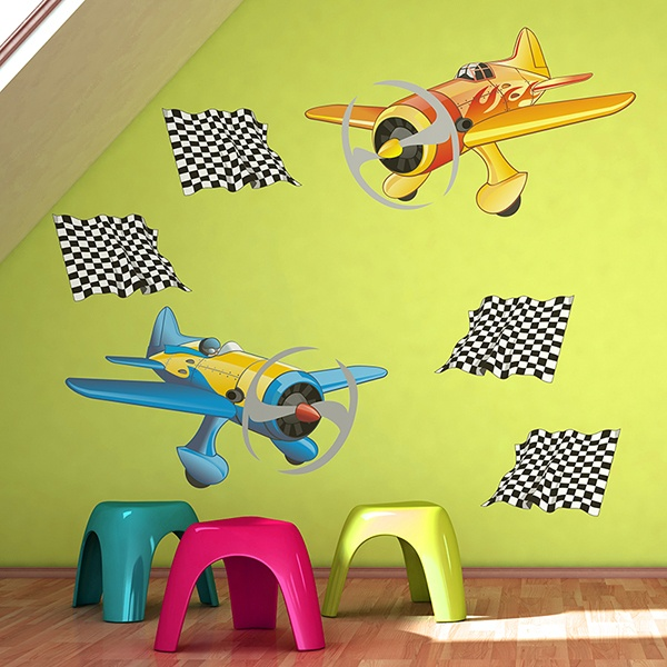 Stickers for Kids: Racing planes