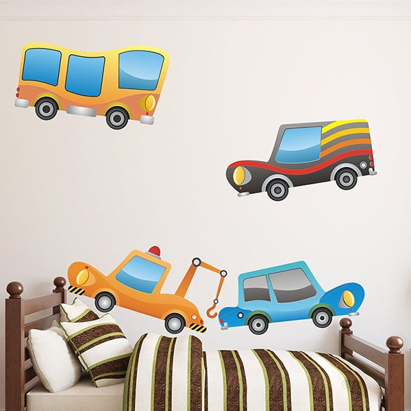 Stickers for Kids: Children's Vehicles