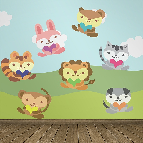 Stickers for Kids: Animals of the jungle