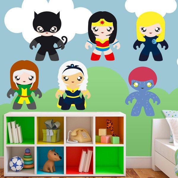 Stickers for Kids: Kit of Heroines