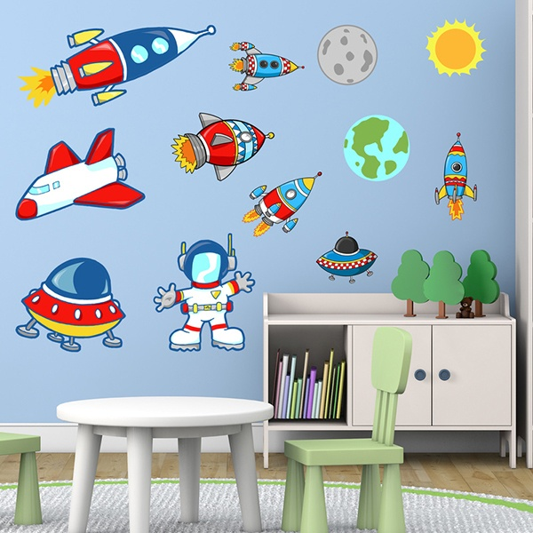 Stickers for Kids: Space Kit 1