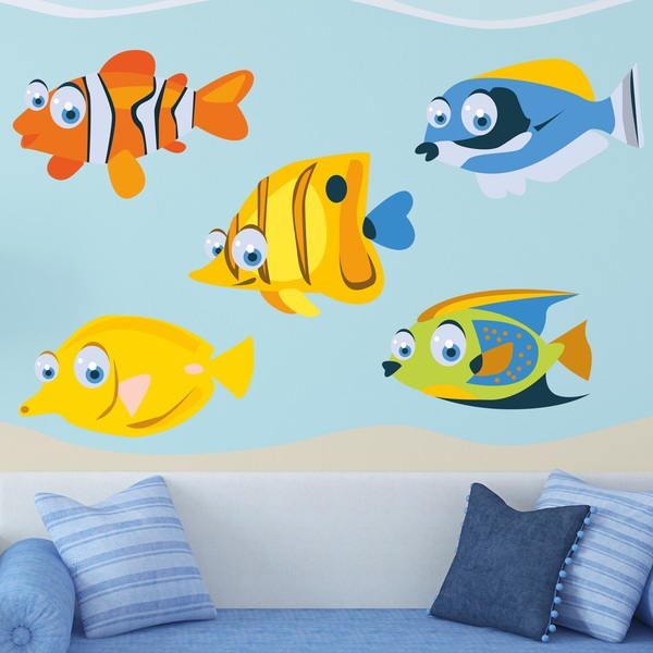 Stickers for Kids: Kit of tropical fish