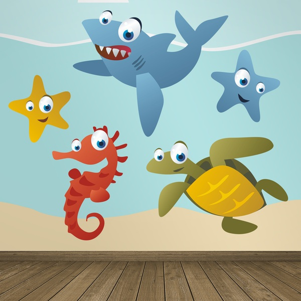 Stickers for Kids: Kit Saltwater aquarium