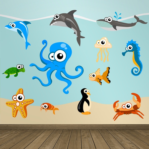 Stickers for Kids: Kit Octopus aquarium