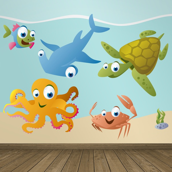 Stickers for Kids: Kit Marine animals