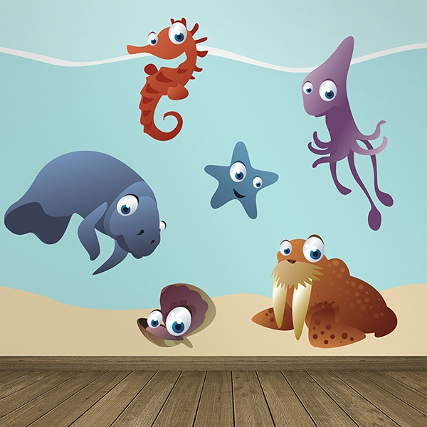 Stickers for Kids: Marine Aquarium Kit