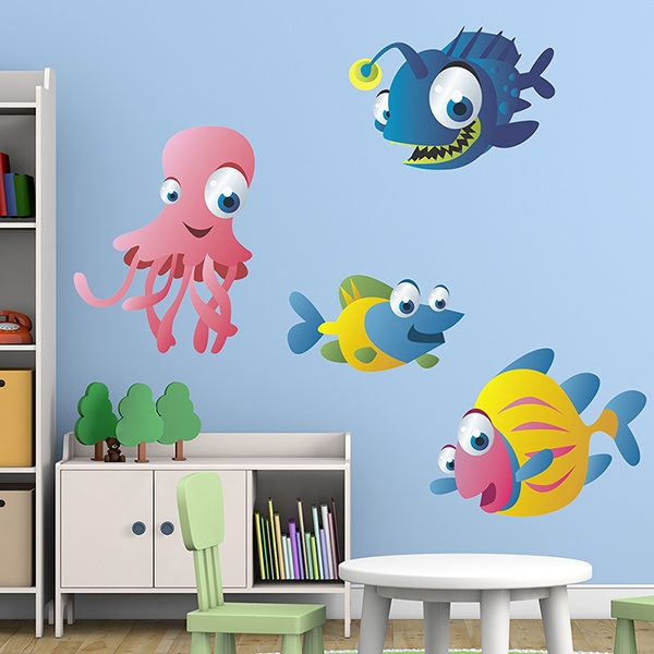 Stickers for Kids: Kit Aquarium of the depths