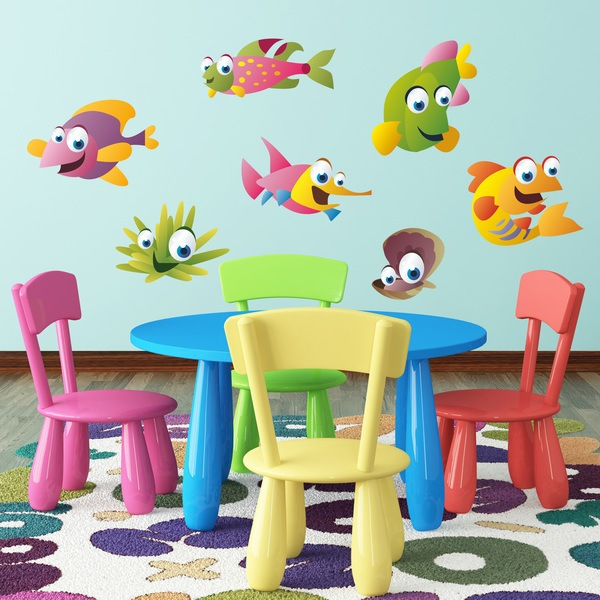 Stickers for Kids: Sea fish kit