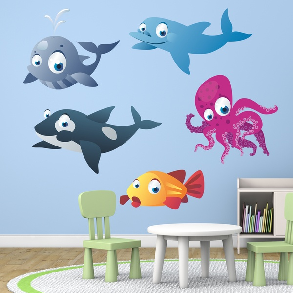 Stickers for Kids: Sea animals kit