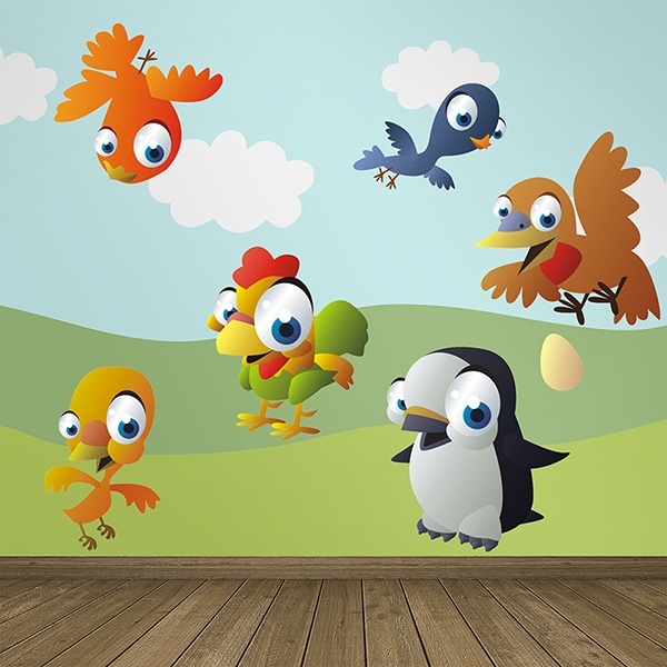 Stickers for Kids: Kit of small birds