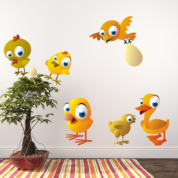 Stickers for Kids: Kit Poultry
