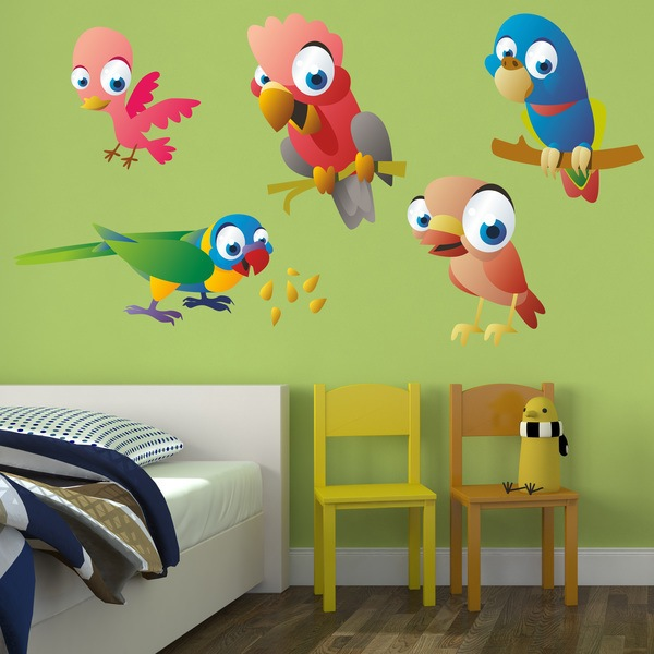Stickers for Kids: Exotic Parrots Kit