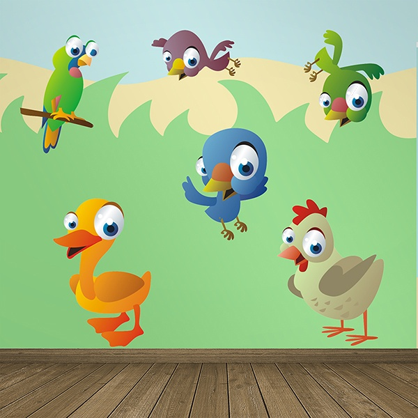 Stickers for Kids: Kit of Poultry and Birds