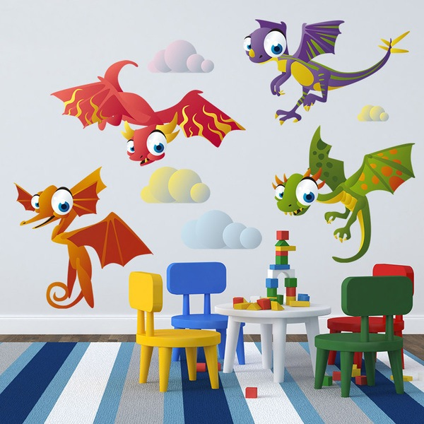 Stickers for Kids: Flying Dinosaurs