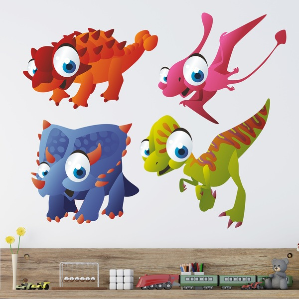 Stickers for Kids: Kit Dinosaurs for Children