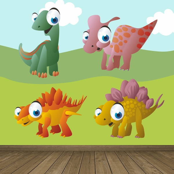 Stickers for Kids: Kit Terrestrial dinosaurs