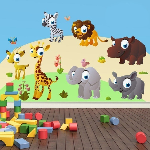 Stickers for Kids: Kit Jungle animals