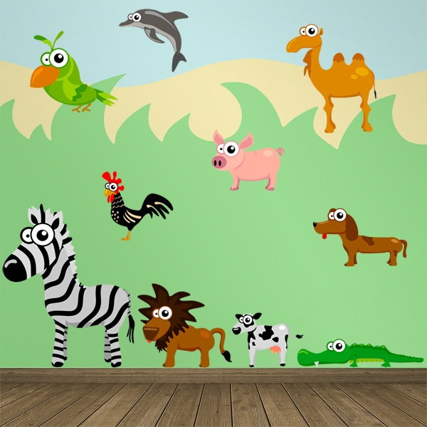 Stickers for Kids: Miscellaneous Animals Kit