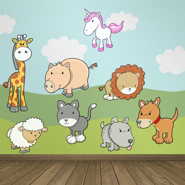 Stickers for Kids: Kit real and fantastic animals