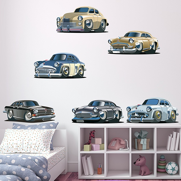 Stickers for Kids: Kit Classic American Cars