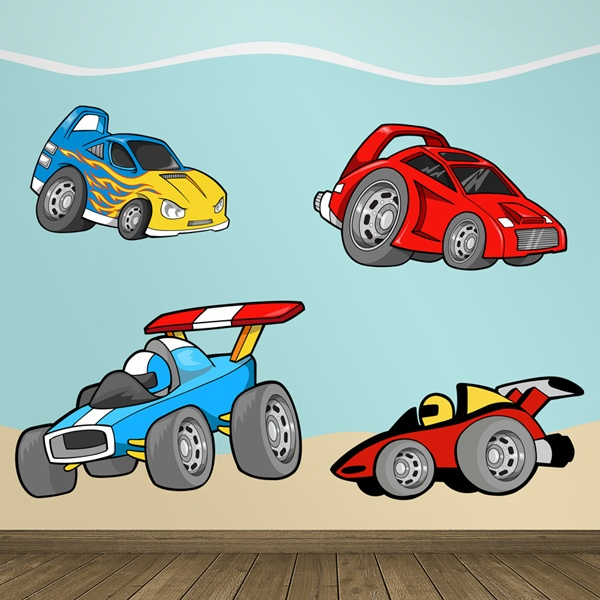 Stickers for Kids: Fast cars