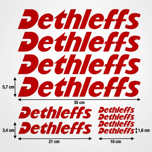 Car & Motorbike Stickers: Set Dethleffs