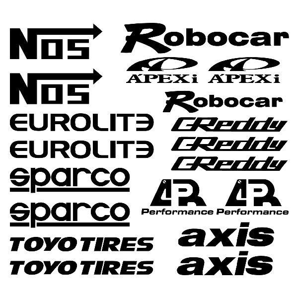 Car and Motorbike Stickers: Kit tuning eclipse