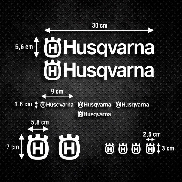 Car & Motorbike Stickers: Kit Husqvarna 2