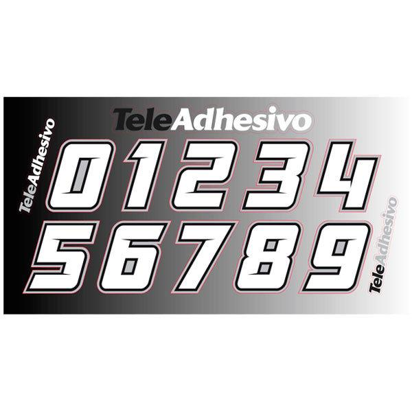 Car & Motorbike Stickers: Kit Numbers White