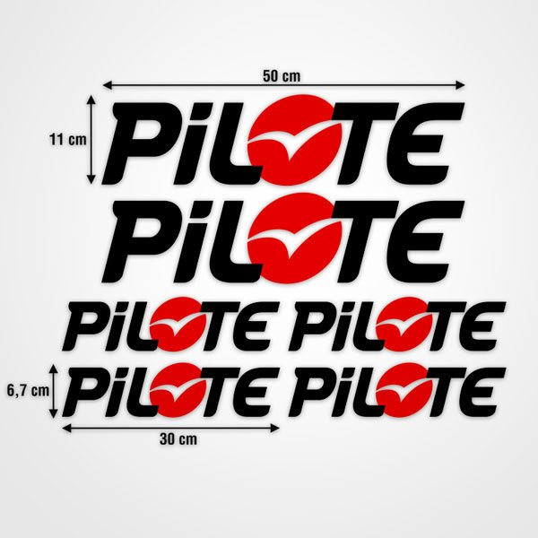 Car & Motorbike Stickers: Kit Pilote