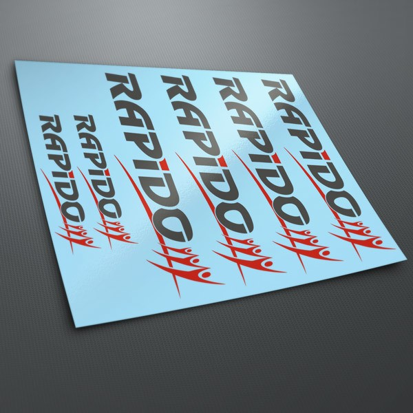 Car & Motorbike Stickers: Multi Rapido Kit