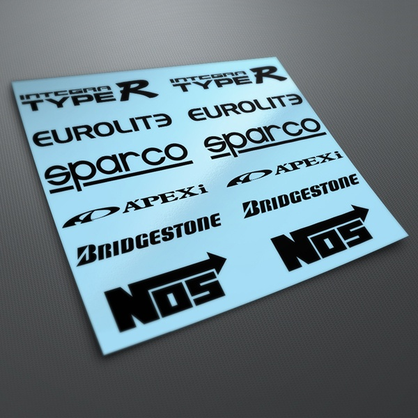 Car & Motorbike Stickers: Kit tuning 01