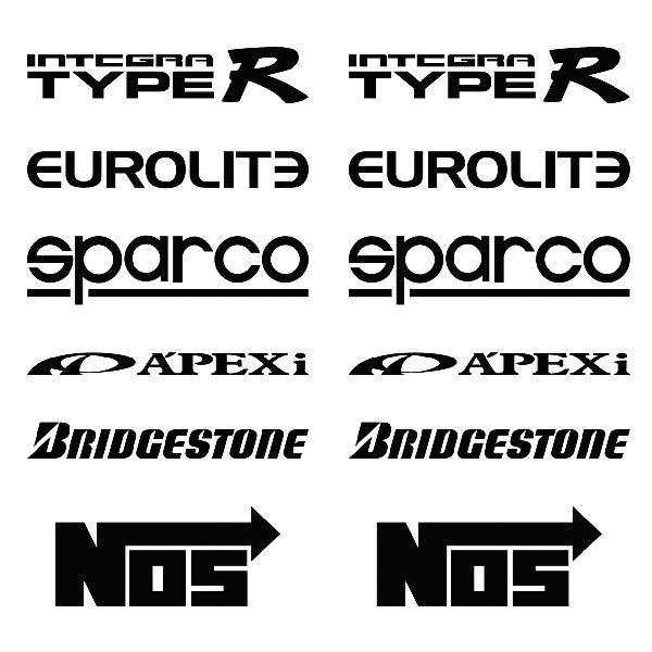 Car and Motorbike Stickers: Kit tuning 01