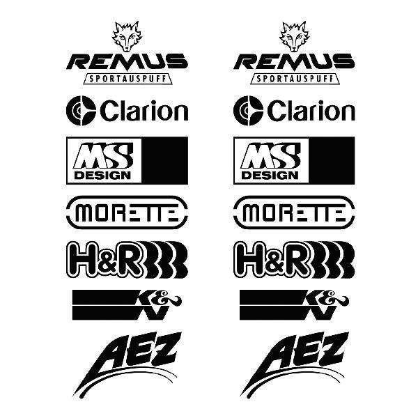 Car and Motorbike Stickers: Kit tuning 08