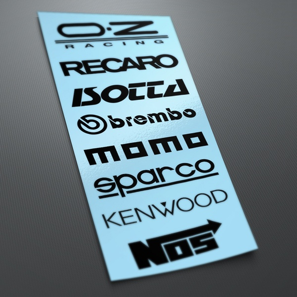 Car and Motorbike Stickers: Kit tuning 9