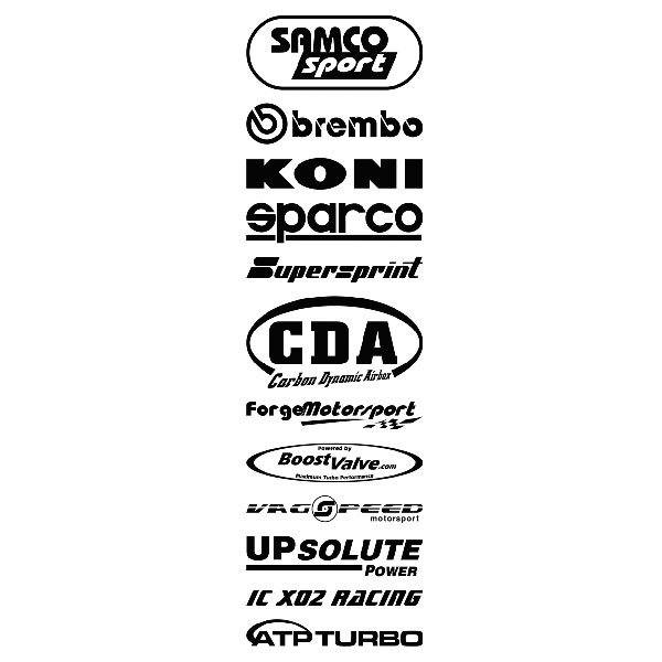 Car and Motorbike Stickers: Kit tuning 10