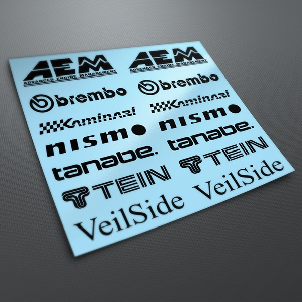 Car & Motorbike Stickers: Kit tuning 13