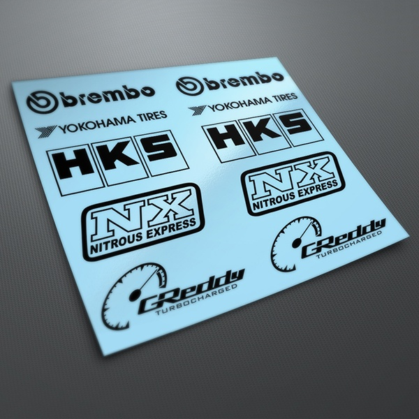 Car & Motorbike Stickers: Kit tuning 14