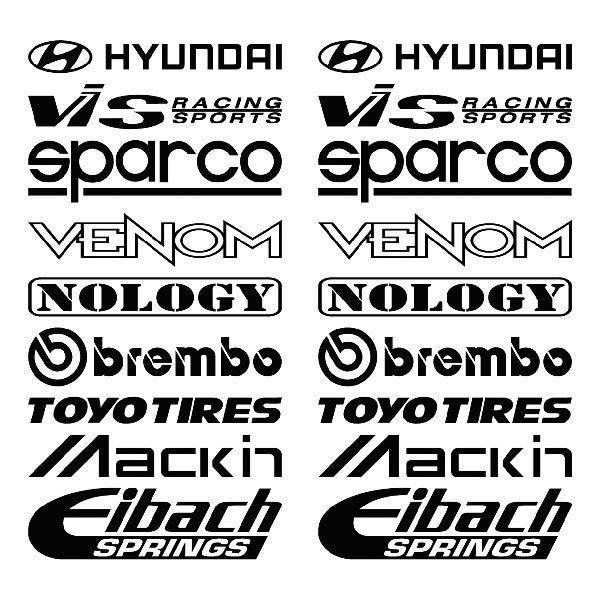 Car and Motorbike Stickers: Kit tuning 17