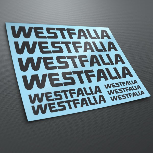 Car & Motorbike Stickers: Kit Westfalia 1