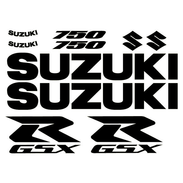 Car and Motorbike Stickers: GSXR 750 2004