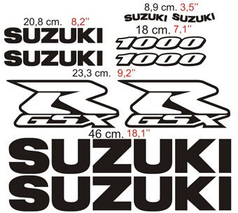 Car & Motorbike Stickers: GSX-R1000
