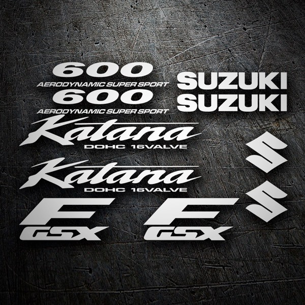 Car & Motorbike Stickers: Katana 600 1998